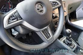 skoda kodiaq interior kodiaq rs honeycomb steering wheel plate chrome v1