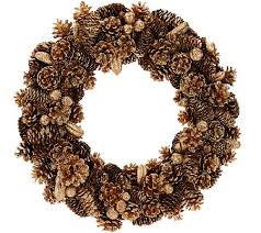 pinecone wreath 16 shimmering forest pinecone wreath page 1 qvc