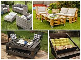 Pallet Patio Furniture by Garden Furniture Ideas From Repurposed Pallets Yards Pallets