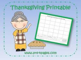 free thanksgiving printable preschool kindergarten