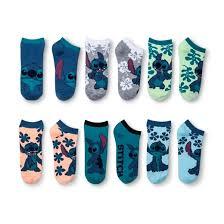disney s lilo stitch 6pk no show socks blue 9 11 target