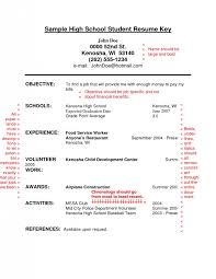 First Job Resume Objective Examples by How To Write A Job Resume For A Highschool Student