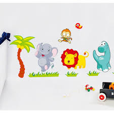 aliexpress com buy big jungle animals bridge vinyl wall stickers