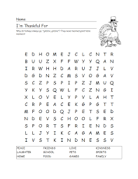 grade delight thanksgiving word search