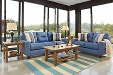 ashley furniture blue sofa ashley furniture contemporary sofa sets ebay