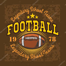 american football vintage vector labels for poster flyer or t