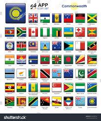 Flags Of Nations Commonwealth Nations Flags Icon Set Square Stock Vector 322008752