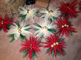 poinsettia deco mesh table decorations christmas 2 deck the