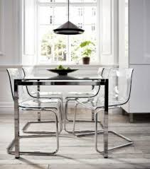 chrome dining room sets glass chrome dining table foter