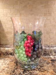 Italian Kitchen Decor by Cheap Dollar Store Grapes And A Hurricane Great For Kitchen Wine