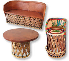 Mexican Patio Decor Mexican Equipale Pigskin Leather Furniture