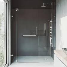 48 In Shower Door Vigo Pirouette 48 X 72 Pivot Frameless Shower Door Reviews