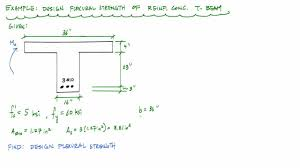 Design Moment Strength Calculation Of A RC Tbeam Reinforced - Reinforced concrete wall design example
