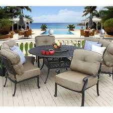 Heritage Outdoor Living BRNMTU Patio Curved Sofa Dining Set - Round outdoor sofa 2