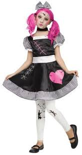 Halloween Costumes Kids Girls Scary Dead Dolly Rag Doll Kids Costume Costumes U0027s Spooky