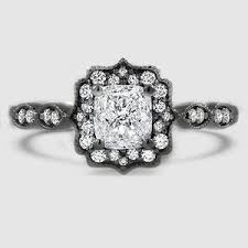 white gold halo engagement rings black rhodium engagement ring cadenza halo brilliant earth
