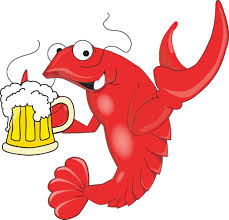 funny beer cartoon funny crawfish with a mug of beer 4249084 1192x1145 all for