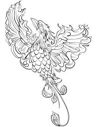 coloring pages animals coloring phoenix