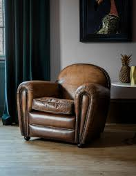 Vintage Leather Club Chair Deco Leather Lounge Chair By Rose U0026 Grey