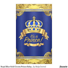 royal blue gold crown prince baby shower baby shower pinterest
