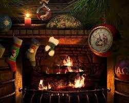 christmas music with fireplace binhminh decoration