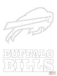 buffalo bills logo coloring page free printable coloring pages