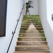 13pcs 3d landscape stair risers decor photo mural decal wallpaper