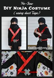 Ninja Halloween Costumes Girls Easy Black Ninja Costume Sewing Required East Coast