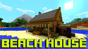minecraft how to build a beach house tutorial simple u0026 easy