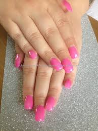 full set acrylic with pink gel polish makeup u0026 nails pinterest