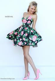 sherri hill 50259 short floral print prom dress french novelty