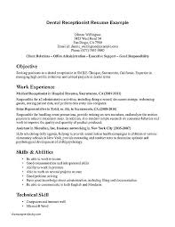 resume exles for receptionist resume receptionist office arieli me