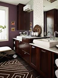 baths with stylish color combinations espresso plum paint and