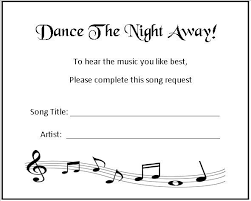 wedding song request cards 24 personalised wedding song request cards design