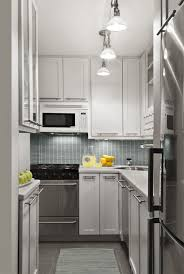 small home kitchen design ideas delightful white teak cabinets apropos blue backsplash for small