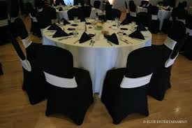 black banquet chair covers decoration fascinating black and white wedding table decoration