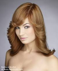 rolling hair styles long hair with outward curl or sides rolling outward