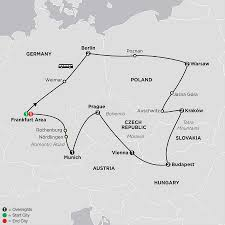 Map Of Europe And Capitals by Central Europe Tour Cosmos Affordable Tour Packages