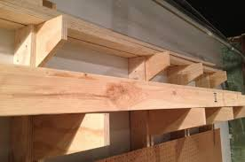 Wooden Storage Shelves Diy by How To Build A Wall Mounted Lumber Storage Rack One Project Closer