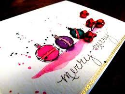 christmas cards in watercolor cathy design by cathy bluteau fa la la la la
