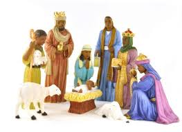 Outdoor Lighted Nativity Sets For Sale Amazon Com 9 Piece Nativity Set African American Home U0026 Kitchen