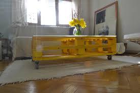yellow coffee table tudor bura