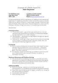 Functional Skills Resume Templates Examples Of Skills Resumes Template With Resume Based Saneme
