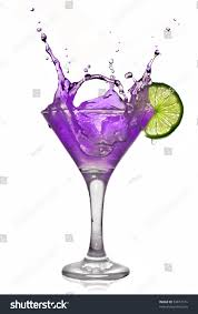 cocktail splash violet alcohol cocktail splash green lime stock photo 53817574