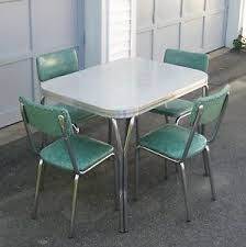 Chrome Kitchen Table Dining Tables  Tavo Belgium Chrome And - Retro formica kitchen table