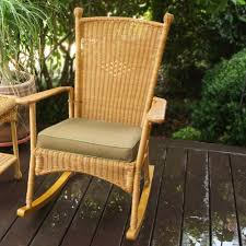 Patio Rocking Chairs Wood by Tortuga Outdoor Portside Classic Wicker Rocking Chair