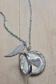 pet remembrance jewelry pet loss necklace lock of hair necklace pet memorial gift