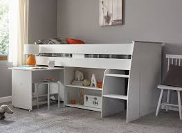 Midi Bed With Desk Benham Midsleeper Bed White Dreams