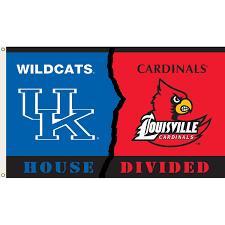 College Flag Kentucky Vs Louisville 3ftx5ft House Divided Flag