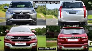 Ford Everest Facelift New 2018 Ford Everest Vs 2018 Mitsubishi Pajero Sport Design